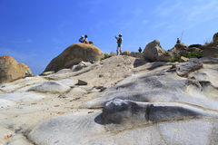 Strange rock hill Royalty Free Stock Image