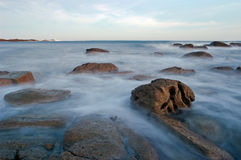Strange rocks in Brittany Stock Photography