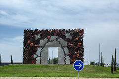 Strange roundabout in France Royalty Free Stock Photo