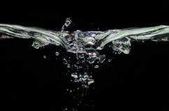Strange shape of splashing water Royalty Free Stock Photos