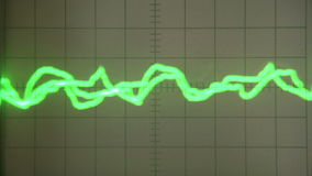 Strange Signal on the Screen. Chaotic curves on the screen measuring equipment stock video