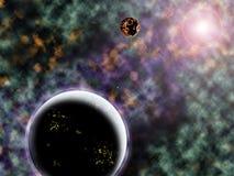 A strange solar system Royalty Free Stock Photos