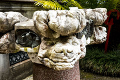 Strange Statue in a Beautiful Garden at Monte above Funchal Madeira. This wonderful garden is at the top of the cablecar from the seafront in Funchal. It is Royalty Free Stock Photography