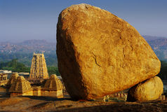 Strange stone in Hampi Stock Photos