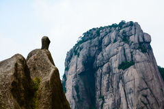 Strange stone in Mount Huangshan of China(Mountain range) Stock Images