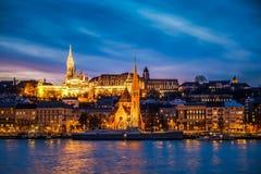 Strange sunset in Budapest Royalty Free Stock Image