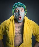 Strange surprised man Royalty Free Stock Photography