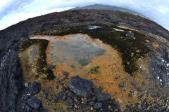 Strange Tide Pools, Fisheye Stock Photo