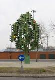 Strange traffic light Stock Images