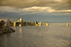 Strange Tufa Formations at Sunset Royalty Free Stock Images
