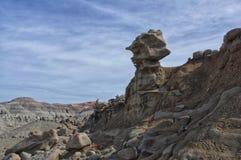Strange weathered rock formations. In Utah USA. Otherworldly erosion of sandstone Royalty Free Stock Images