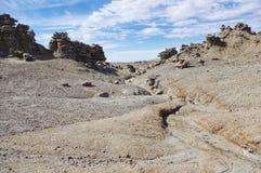 Strange weathered rock formations. In Utah USA. Otherworldly erosion of sandstone Royalty Free Stock Image