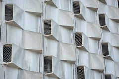 Strange windows on a modern building. This building is called the bee-nest situated in gent Royalty Free Stock Images