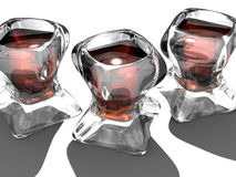 Strange Wine Glasses. A 3D illustrated of wine glasses in abstract shape Stock Images