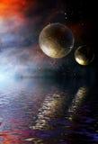 Strange world and planets Stock Photos