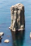 Strangely shaped rock, Japan Stock Photos