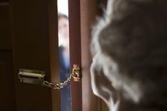 Stranger At The Door Royalty Free Stock Photos