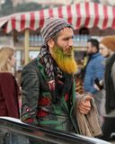 Stranger Man with yellow beard royalty free stock photo