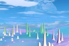 Stranger planets Stock Image