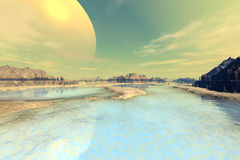 Stranger planets Stock Photo