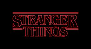 Stranger Things Vector Logo royalty free stock photo