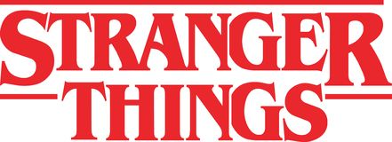Stranger Things Vector Logo stock illustration
