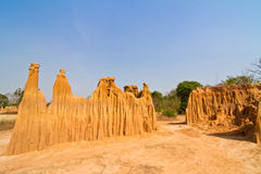 Stranges shapes of soil erosion Stock Image