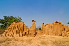 Stranges shapes of soil erosion Stock Photography