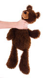 Strangling brown teddy bear Stock Photos