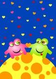Stranieri nella scheda di giorno dei biglietti di S. Valentino di amore illustrazione vettoriale