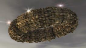 Straniero del UFO dell'astronave Fotografie Stock Libere da Diritti