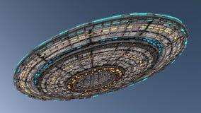 Straniero del UFO dell'astronave Fotografia Stock