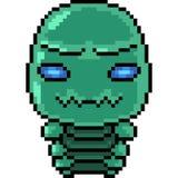 Straniero del verme di arte del pixel di vettore illustrazione di stock
