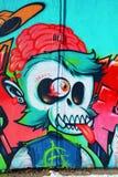 Straniero di Montreal di arte della via Immagini Stock