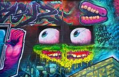Straniero di Montreal di arte della via Immagine Stock