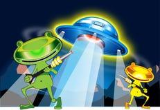 Straniero ed UFO Fotografia Stock Libera da Diritti