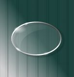 Strap background with glass ellipse. Framework stock illustration