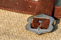 Strap, Brown, Leather, Buckle Royalty Free Stock Photo