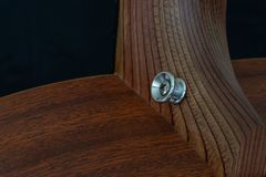 Strap Pin Of Acoustic Guitar stock photo