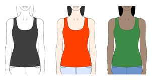 Strap tank top template Royalty Free Stock Image