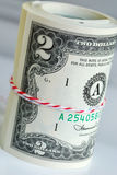 A strap of United States $2 bills. A strap of United States $2 dollar bills Stock Photo