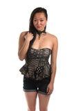 Strapless blouse Stock Afbeeldingen