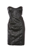 Strapless leather dress Royalty Free Stock Photo