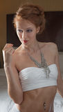 Strapless Top and Necklace Stock Photos