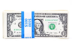 Strapped dollar bills Royalty Free Stock Image