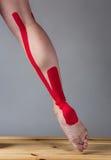 Strapping injured calf Royalty Free Stock Photo