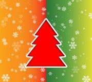 Strappo della carta di Natale Fotografia Stock Libera da Diritti