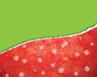 Strappo della carta di Natale Fotografia Stock