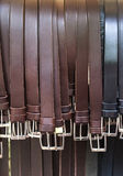 Straps for sale in a store Royalty Free Stock Photos