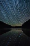 Strar skuggar, bergsjön, sceniska appalachian berg Royaltyfri Foto
